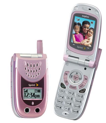 розовый сотовый телефон Sanyo 3100