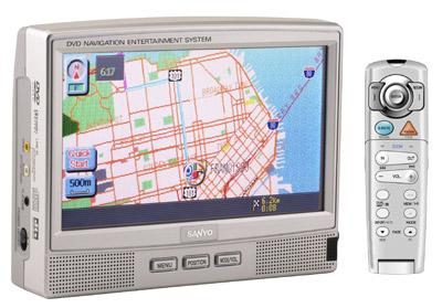 Переносной DVD плеер и GPS навигатор Sanyo NV-E7500