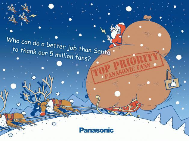 у Panasonic в Facebook 5 миллионов фанов