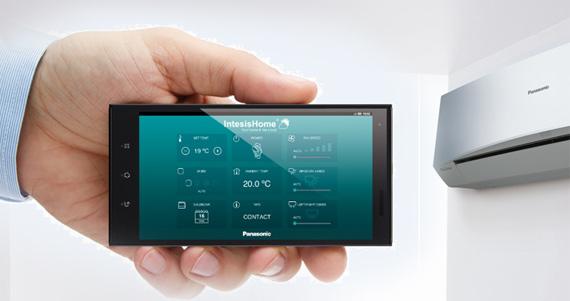через приложения смартфона включать и выключать кондиционер Panasonic