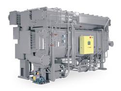 WC2D абсорбционный чиллер низкотемпературный, нагрева горячей водой, одноступенчатый, серия D