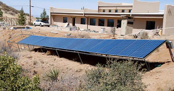фотоэлектрические системы установлены на земле
