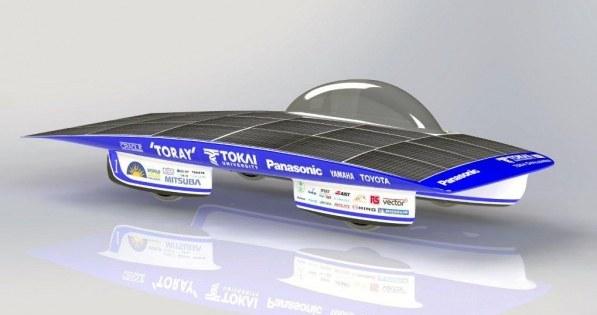 солнечный автомобиль Университета Токай