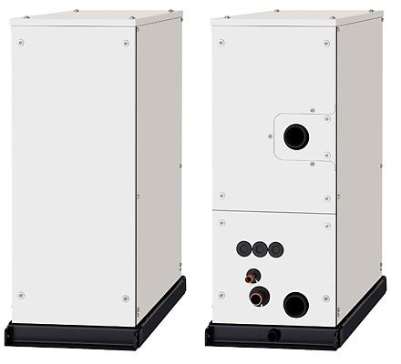 ECO G с водяным теплообменником для получения холодной и горячей воды для водяных систем.