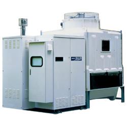 Компактный модульный абсорбционный чиллер-нагреватель с градирней