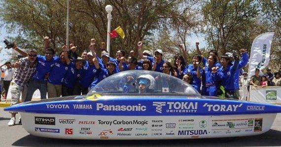 команда из университета Токай в Японии выиграл Carrera Solar Atacama 2014