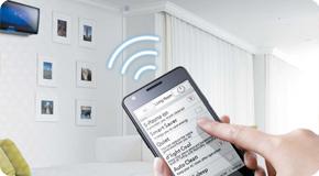 С помощью приложения Smart Wi-Fi*, вы сможете контролировать работу кондиционера удаленно.