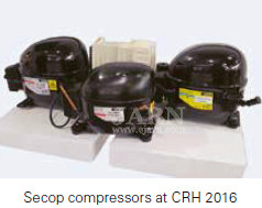 Secop compressors at CRH 2016