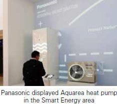 Компания Panasonic показала тепловой насос Aquarea в в зоне Smart Energy