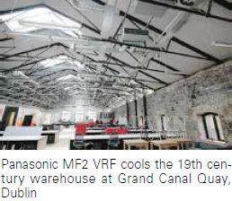 Охлаждение реконструируемого здания склада 19-го века на Grand Canal Quay, Дублин системами Panasonic MF2 VRF