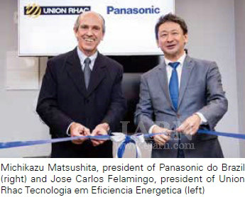 Michikazu Matsushita, president of Panasonic do Brazil (right) and Jose Carlos Felamingo, president of Union Rhac Tecnologia em Eficiencia Energetica (left)